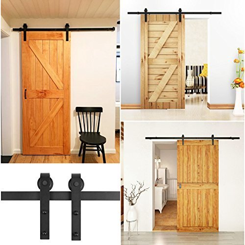 fixkit 6 6ft 200cm herraje para puertas kit de accesorios para puertas correderas vintage. Black Bedroom Furniture Sets. Home Design Ideas